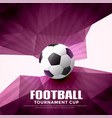football abstract background with geometric shapes vector image vector image