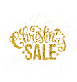 gold merry christmas sale handwritten lettering vector image vector image