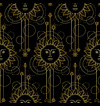 gold sun modern seamless pattern vector image vector image
