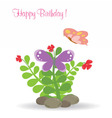 Happy card with butterfly vector image vector image
