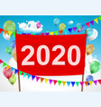 happy new year 2020 red banner vector image vector image
