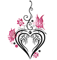 Heart butterflies vector image vector image