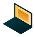 home laptop icon isometric style vector image vector image