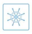 Icon of steering wheel vector image