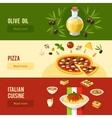 Italian Food Banner Set vector image vector image