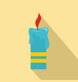 judaism candle icon flat style vector image