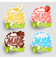 Milk labels splash vector image vector image