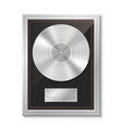 platinum vinyl in frame on wall collection disc vector image vector image