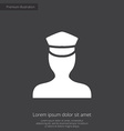 policeman premium icon white on dark background vector image vector image