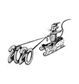 rat with long tail as new year symbol riding vector image vector image