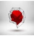Red Abstract Polygonal Shape vector image