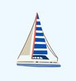 regatta yacht or sea sailboat sailing in sea vector image