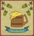 Retro of beer free label beer poster vector image vector image