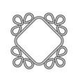 rope decor diamond vector image vector image