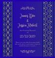 royal wedding invitation card template vector image vector image