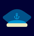 sailors cap with an anchor captains hat vector image vector image