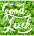 saint patrick day with the word good luck vector image