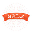 sale offer flat banner reduced price vector image vector image