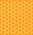 seamless honey combs pattern vector image