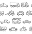 Seamless pattern cars Black and white background vector image vector image