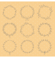 set 9 hand drawn wreaths vector image vector image