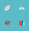 set of america icons flat style symbols with vector image vector image