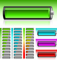 set of batteries vector image vector image