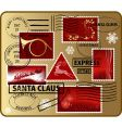 set of christmas mail elements vector image vector image