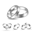 Set of Silver Wedding Rings Isolated vector image vector image