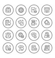 set round line icons gambling vector image vector image