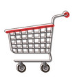 shopping cart icon in watercolor silhouette vector image vector image
