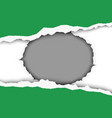 snatched middle green sheet paper vector image
