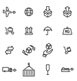 thin line icons - logistic vector image
