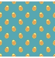Tile pattern with easter eggs blue background vector image vector image