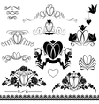 Two wedding rings - Vintage ornaments calligraphic vector image