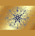 wheel year wicca gold astrological signs vector image vector image