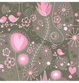 Whimsical seamless background vector image vector image