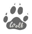 wolf paw print design vector image