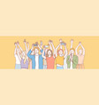 young people at concert perfomance set concept vector image vector image