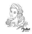 zodiac of aquarius as girl with vector image vector image