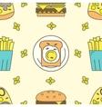 Tasty seamless pattern vector image