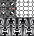 Patterns different seamless black vector image