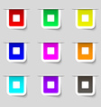 stop button icon sign Set of multicolored modern vector image