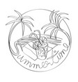 summertime stamp vector image