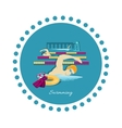 Swimming Sport Concept Icon Flat Design vector image