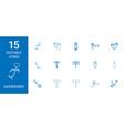 15 gardener icons vector image vector image