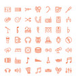 49 sound icons vector image vector image