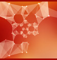 abstract red mesh background vector image vector image