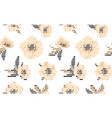 anemone flower seamless pattern eps vector image vector image