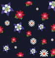 beautiful flowers pattern design vector image